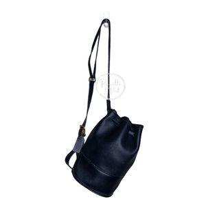 Vintage Black Coach Bucket Backpack Sling-pack